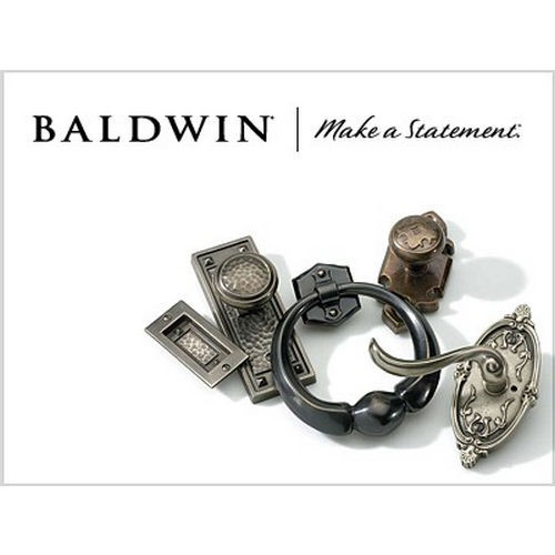 Baldwin 0418030 Mortise Door Bolt Bright Brass Finish