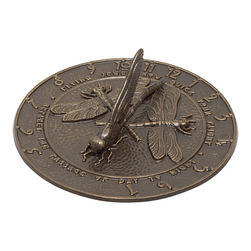 Whitehall 00691 Dragonfly Sundial, French Bronze