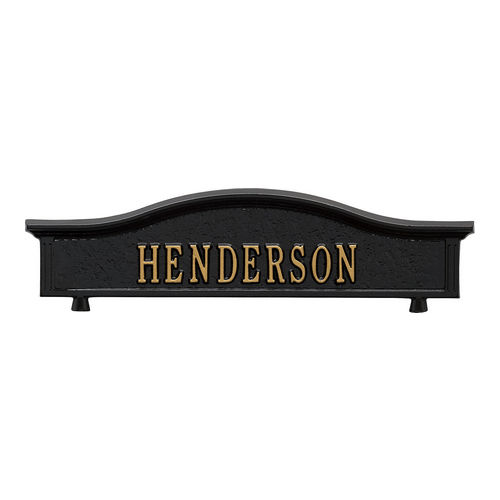 Whitehall 1416BG Personalized Two Sided Topper, Black/Gold