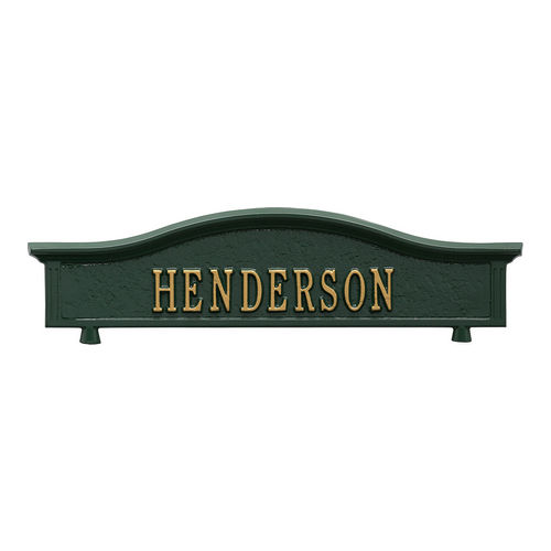 Whitehall 1416GG Personalized Two Sided Topper Green/Gold