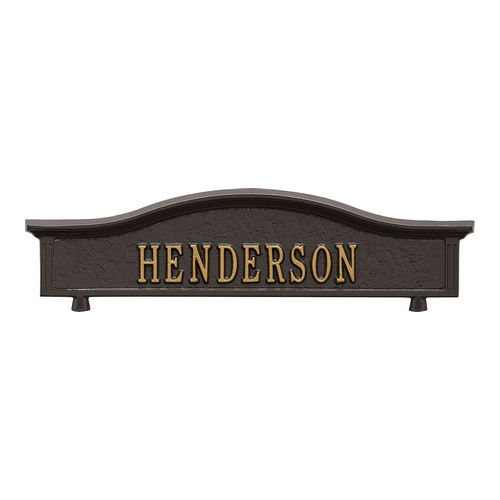 Whitehall 1416OG Personalized Two Sided Topper, Bronze