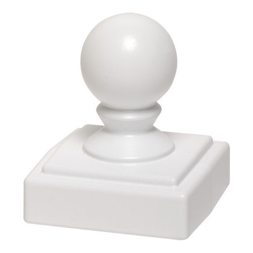 Whitehall 15937 Ball Finial, White