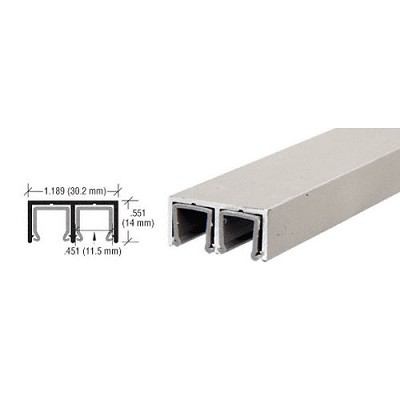 CRL D609BN Plastic Lined Double Upper Channel, Brushed Nickel