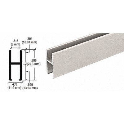 CRL D610BNH Bar for Use On All Track Assembly, Brushed Nickel