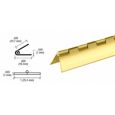 "CRL D667BR Brass 1"" Piano Hinge"