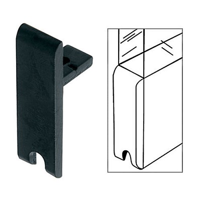 CRL D331BL End Cap for KK610 Tall H-Bar, Flat Black