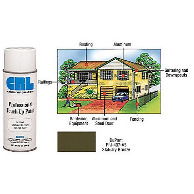 CRL D407 Statuary Bronze Powdercoat Professional Touch-Up Paint
