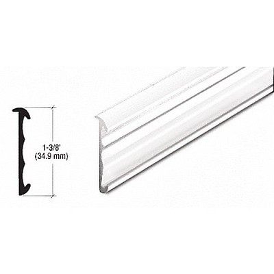 CRL D5001W Price Tag Molding Extrusion, White