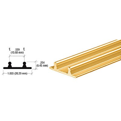 CRL D602BGALower Channel for Deep Recess Installations, Brite Gold Anodized