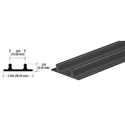 CRL D602BLLower Channel for Deep Recess Installations, Flat Black