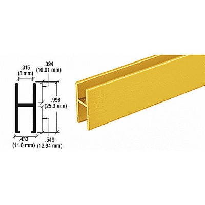 CRL D610BGAH Bar for Use On All Track Assembly, Brite Gold Anodized