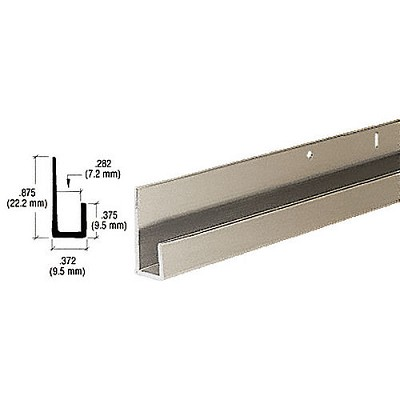 CRL D636BN Standard J Channel, Brushed Nickel