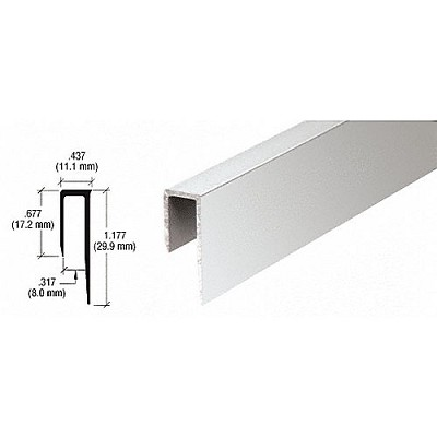 "CRL D58BA Deep Nose 5/16"" J-Channel, Brite Anodized"