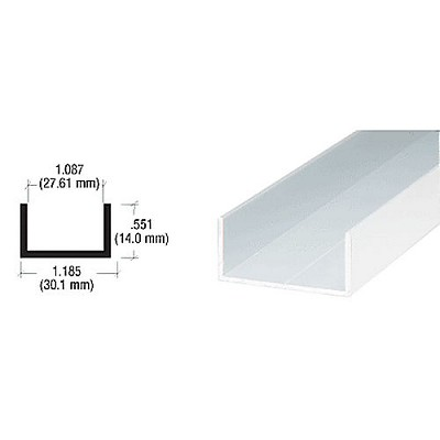 CRL D600BA Single Channel, Brite Anodized