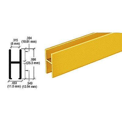 CRL D610GAH Bar for Use On All Track Assemblies, Gold Anodized