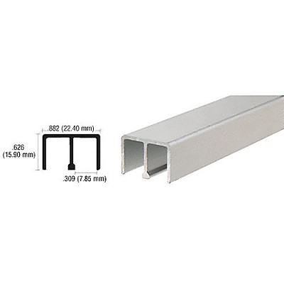 "CRL D618A Upper Track for 1/4"" Sliding Panels"