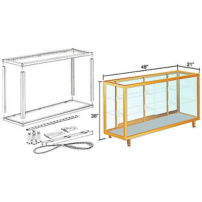 CRL D6304GA Deluxe Packaged Showcase Assembly 4', Gold Anodized
