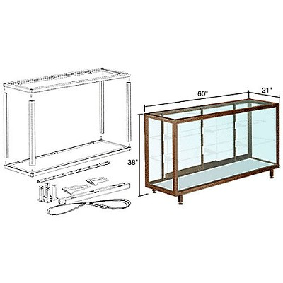 CRL D6305DU Deluxe Packaged Showcase Assembly, Duranodic Bronze