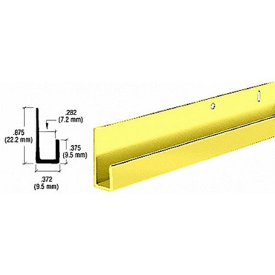 "CRL D636DBGADipped Brite Gold Anodized 1/4"" Standard J Channel"