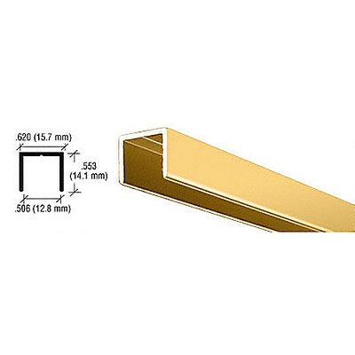 CRL D604BGA U-Channel, Brite Gold Anodized