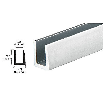 "CRL D622A 1/4"" Single Channel with 5/8"" Wall"