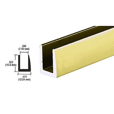 "CRL D622GA Single Channel with 5/8"" Wall, Gold Anodized"
