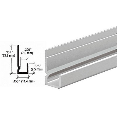 "CRL D657A Standard Heavy Indented Back 1/4"" J-Channel"