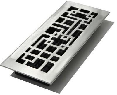 Decor grates aba212 nkl abstract floor registers 2 x 12 for 12 x 8 floor register