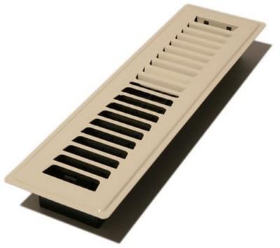 Decor grates lp212 al louvered cold design floor registers for 12 x 8 floor register