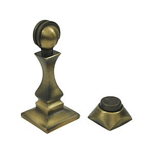 "Deltana MDH35U5 Magnetic Door Holder 3-1/2"", Antique Brass (Each)"