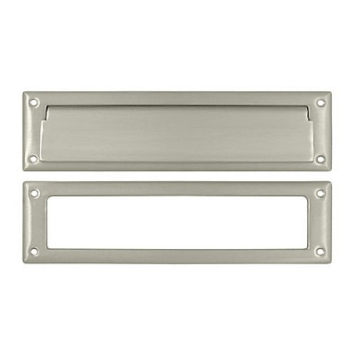 "Deltana MS211U15 Mail Slot 13-1/8"" with Interior Frame, Satin Nickel (Each)"