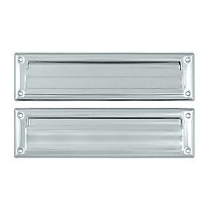 "Deltana MS212U26 Mail Slot 13-1/8"" with Interior Flap, Chrome (Each)"