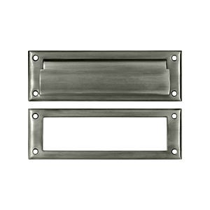 "Deltana MS626U15A Mail Slot 8-7/8"" with Interior Frame, Antique Nickel (Each)"