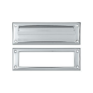 Deltana MS626U26 Mail Slot 8-7/8' with Interior Frame, Chrome (Each)