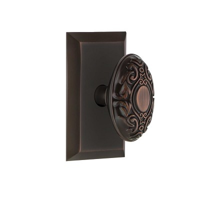 Nostalgic Warehouse 707969 Studio Plate Single Dummy Victorian Door Knob, Timeless Bronze