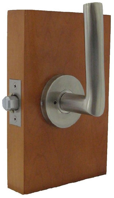 Trimco 1074 1 Barn Door Latchset Satin Stainless